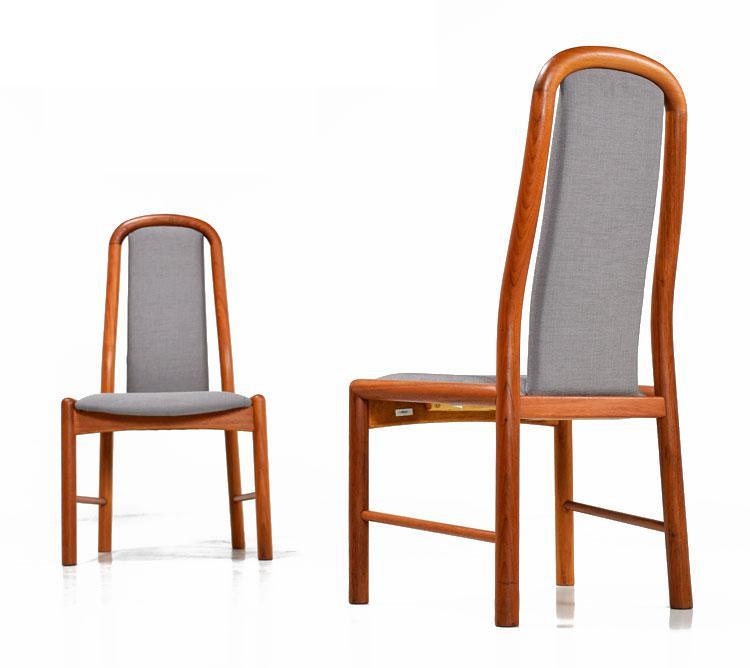 Charmant Danish Modern 4 Restored Benny Linden Teak Chairs For Sale   Image 3 Of 6