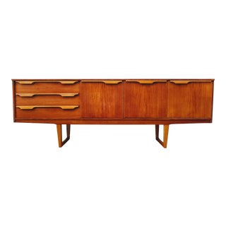Vintage Mid-Century Modern Frank Guille for Stonehill Ltd. Teak Credenza For Sale