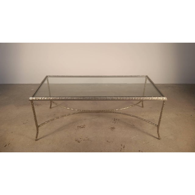 Large Silvered Bronze Cocktail Table by Maison Baguès For Sale - Image 9 of 9