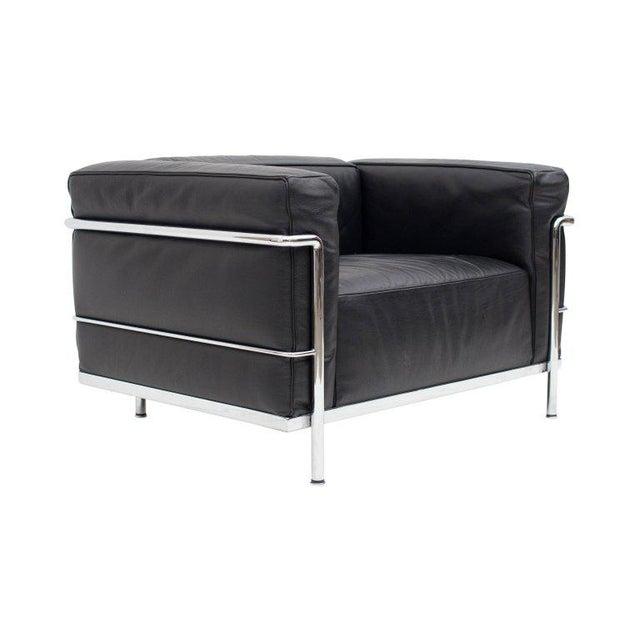 Superior Le Corbusier LC3 Poltrona Lounge Chair Black | DECASO