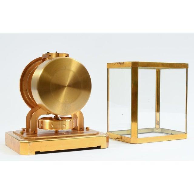 Case Glass Brass Jaeger Le Coultre Mantel Desk Clock For Sale - Image 4 of 13