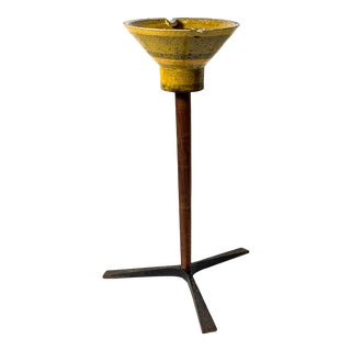 Aldo Londi Bitossi Ashtray on Tripod Stand Circa 1960s For Sale