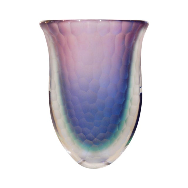 High End Vintage Murano Glass Vase Decaso