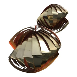 "1960s Louis Weisdorf for Lyfa/Denmark ""Kon Kylie"" Louvered Light Fixtures - a Pair For Sale"