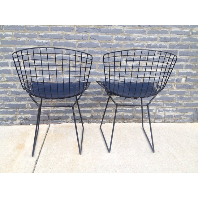 Harry Bertoia Black Side Chairs - Pair - Image 5 of 7