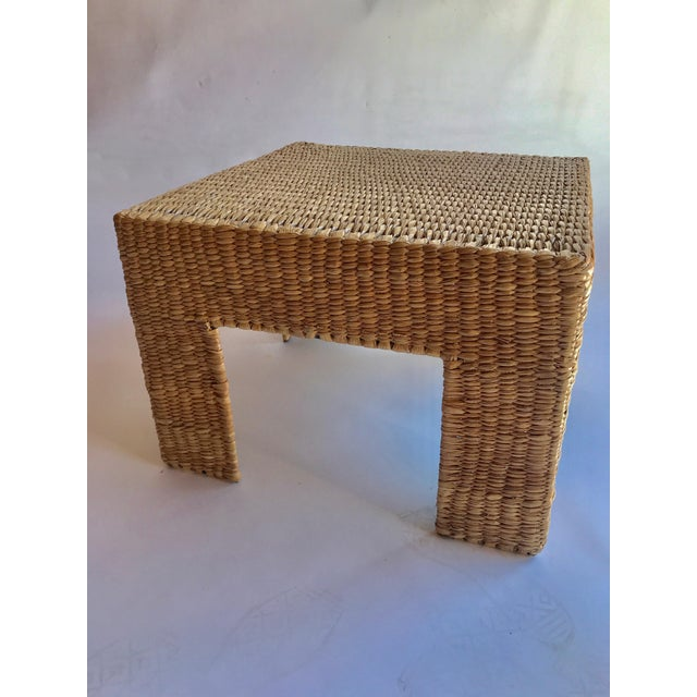 Metal Mario Lopez Torres Woven Parsons Table For Sale - Image 7 of 7
