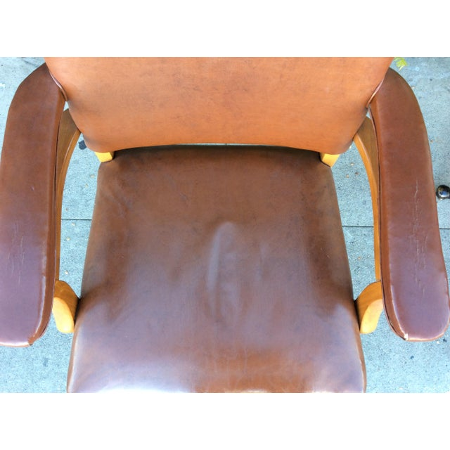 Vintage Faux Leather Side Chairs - a Pair For Sale - Image 5 of 11