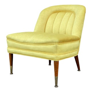Mid Century Slipper Chair For Sale