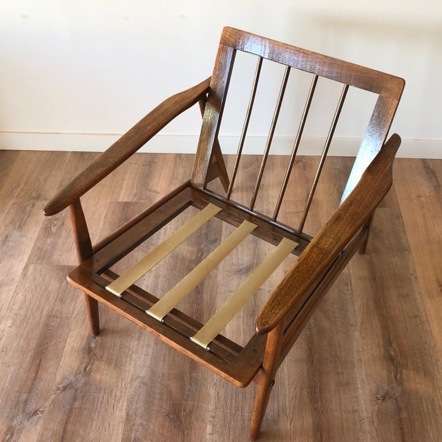 Mid-Century Modern Walnut Arm Chair For Sale - Image 9 of 13