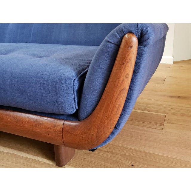 1960s Blue Mid-Century Modern Sectional Sofa For Sale - Image 5 of 8
