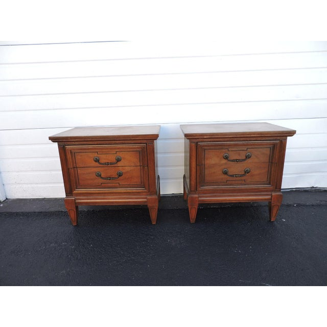 Pair of Nightstands Side End Tables by Dixie For Sale - Image 11 of 11
