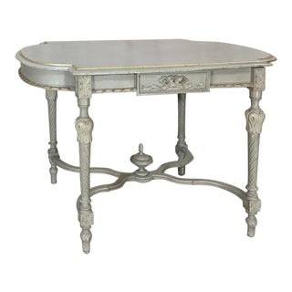19th Century French Louis XVI Painted Center Table For Sale
