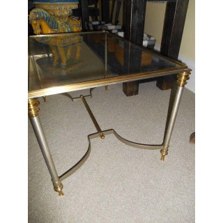 20th Century Maison Jansen Glass Brass Regency Table Preview