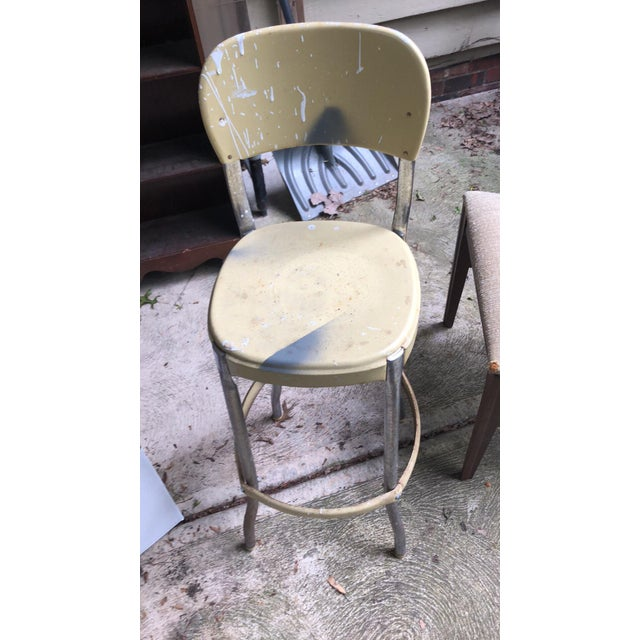 Mid 20th Century Mid Century Chrome Bar Stools- a Pair For Sale - Image 5 of 9