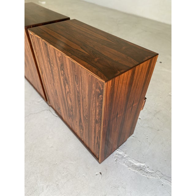 1960s Westnofa Brazilian Rosewood Highboy Dressers-a Pair For Sale - Image 10 of 11