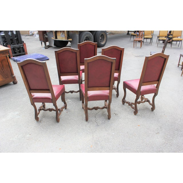 French Louis XIII Style Os De Mouton Dining Chairs - Set of 6 For Sale In Miami - Image 6 of 13