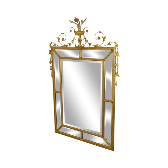 """Friedman Brothers Gold Gilt Frame Louis XVI Style """"The Dorset-Cromwell"""" Mirror For Sale"""