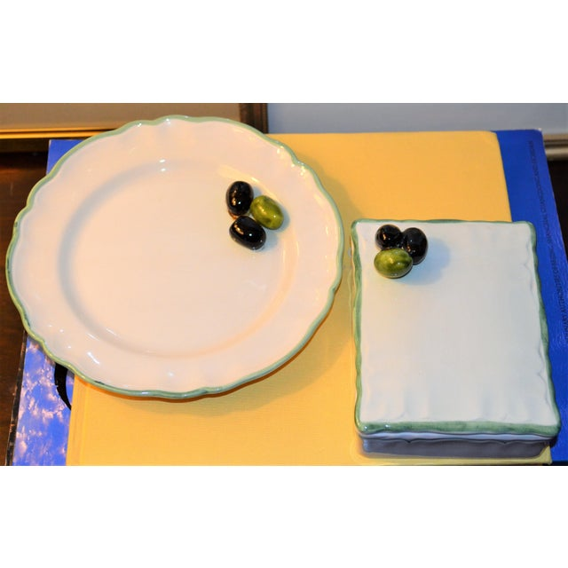 Vintage Mancioli Trompe l'Oeil Box and Plate - Image 11 of 11