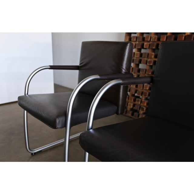 Leather Leather Armchairs by Antonio Citterio & Glen Oliver Low for Vitra - Set of 4 For Sale - Image 7 of 10