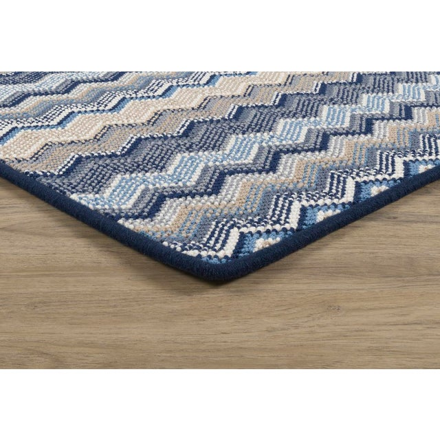 """Not Yet Made - Made To Order Stark Studio Rugs, Forlini, Cobalt , 2'6"""" X 12' For Sale - Image 5 of 7"""