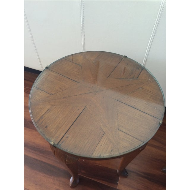 Vintage Inlaid Teak Accent Tables - A Pair - Image 6 of 7