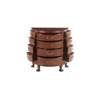 20th Century George III Style Mahogany Demilune Commode For Sale