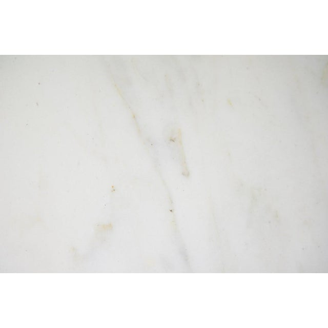 Mid 20th Century Italian 20th C. White Round Marble Top Accent Table For Sale - Image 5 of 10