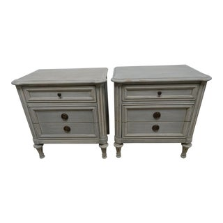 Gustavian Style Nightstands - a Pair For Sale