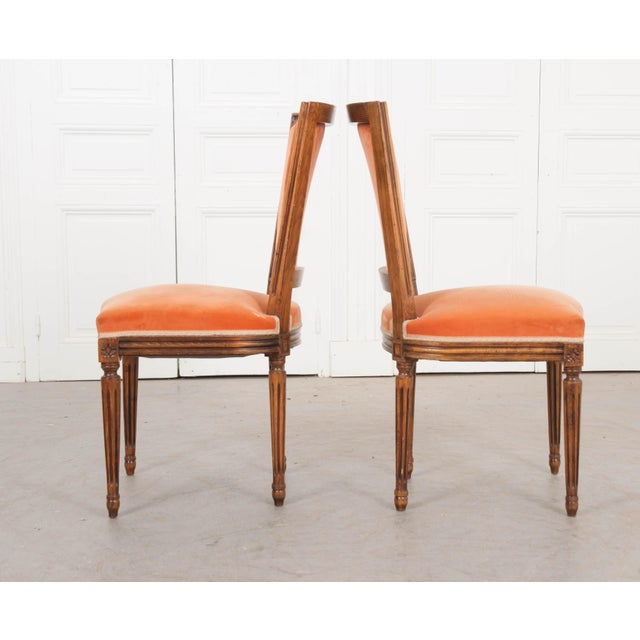 French French 19th Century Louis XVI-Style Walnut Sidechairs-Set of 6 For Sale - Image 3 of 12