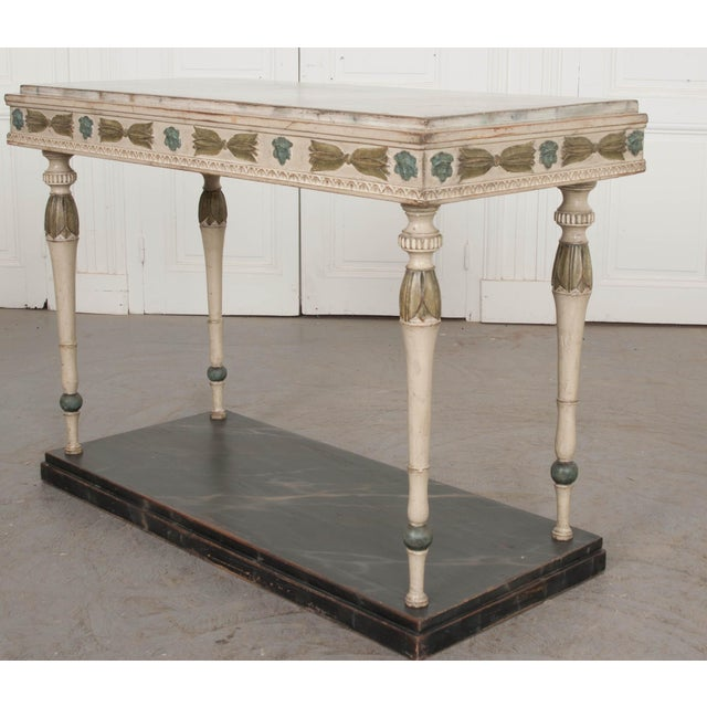 19th Century Swedish 19th Century Carved and Painted Console For Sale - Image 5 of 12