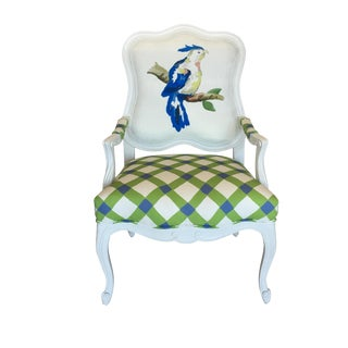 Dana Gibson Blue Parrot Chair For Sale