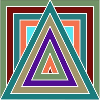 Triangle Contemporary Painting For Sale