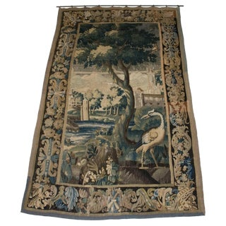 18th Century French Aubusson Verdure Tapestry For Sale