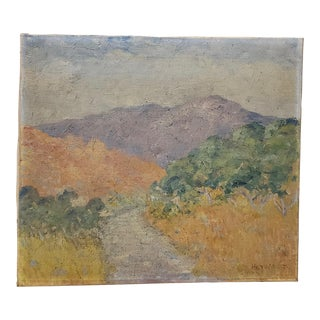 Early 20th Century Mountain Landscape With Path by Heywood For Sale