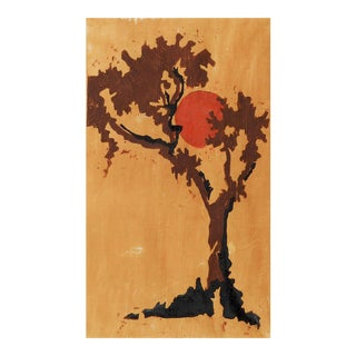 Tree Block Print by Lind Butler For Sale