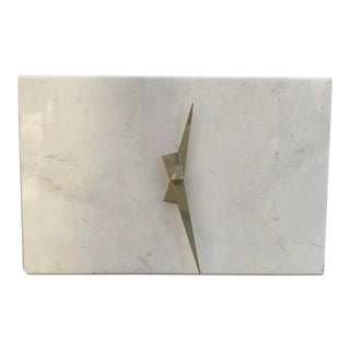 1980s Modernist Stone Table Clock For Sale