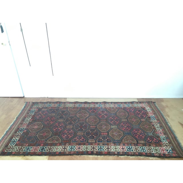 "Antique Tribal Rug 6'10"" X 3'5"" - Image 3 of 8"