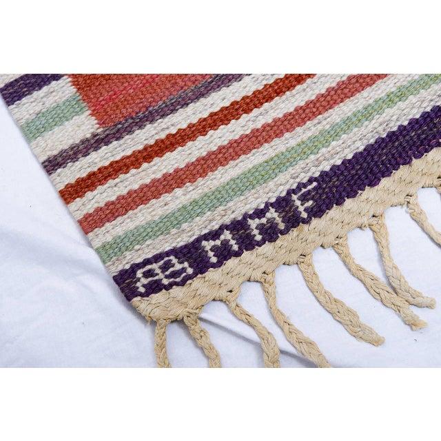 Vintage Barbro Nilsson Flat-Weave Swedish Carpet for Marta Maas-Fjetterström - Image 9 of 10