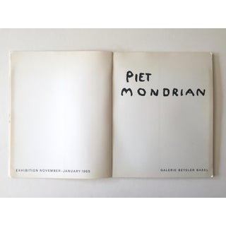 Piet Mondrian Rare Vintage 1965 1st Edition Collector's Galerie Beyeler Exhibition Lithograph Print Art Book Preview