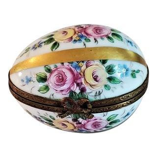 Vintage Limoges Egg Ring Box For Sale