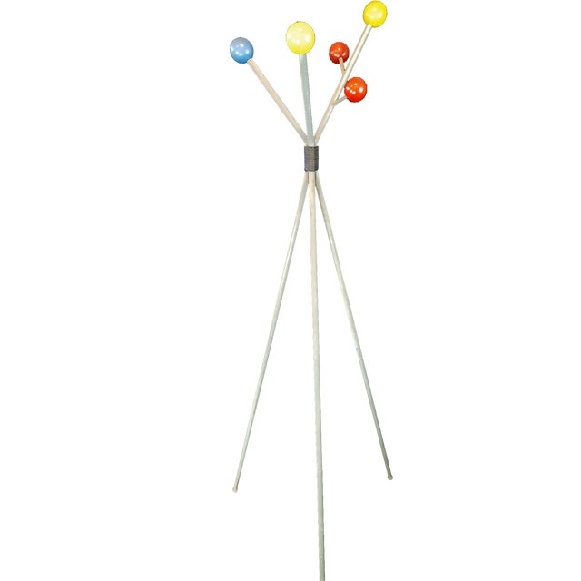 1950s George Nelson Style Space Age Sputnik Metal Coat Rack For Sale - Image 5 of 5