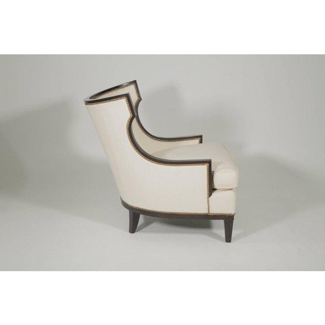 White 1950s Vintage Barbara Barry Modern Style Upholstered Chairs- A Pair For Sale - Image 8 of 11