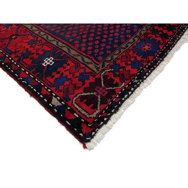 "Boho Chic Vintage Persian Hamadan Rug - 4'6"" X 6'7"" For Sale - Image 3 of 3"