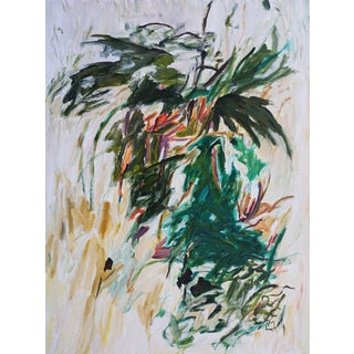 """Laurie MacMillan """"Summer Breeze"""" Botanical Abstract Painting"""