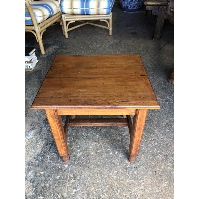 Vintage Asian Teak Wood Side Table For Sale - Image 4 of 5