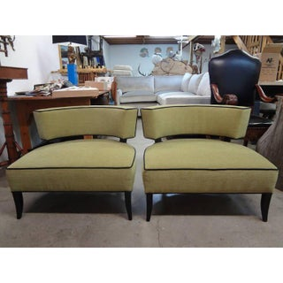 1940s Vintage James Mont Style Lounge Chairs- A Pair Preview