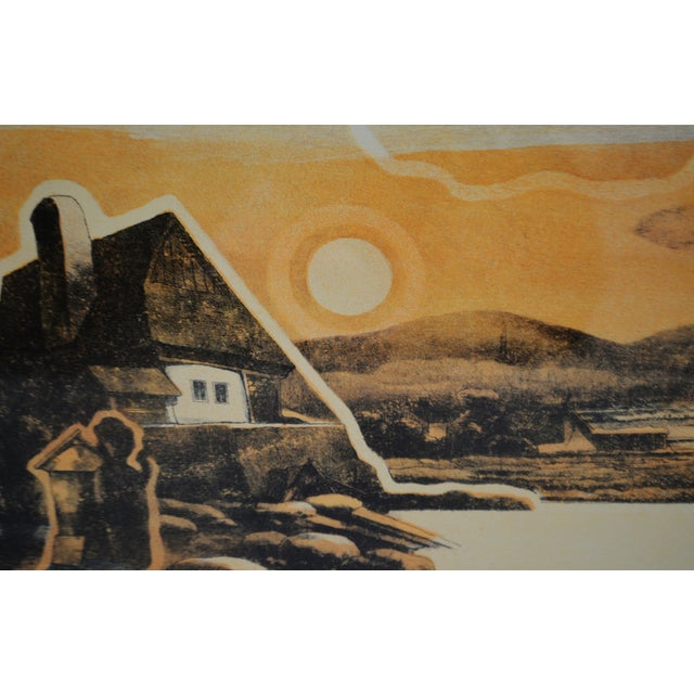 White Vintage Framed Limited Edition Landscape Serigraph - Signed and Numbered For Sale - Image 8 of 13