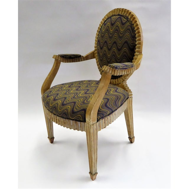 Modern Adaption of Louis XIV Roi Soleil Bergere Armchair , C. 1980s For Sale - Image 11 of 12