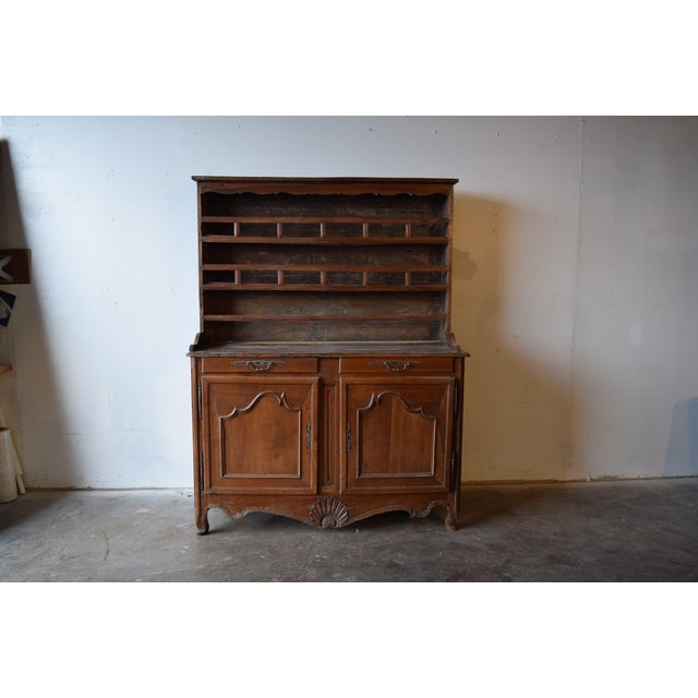Yellow 19th Century French Provincial Cherrywood Kitchen Cupboard For Sale - Image 8 of 8