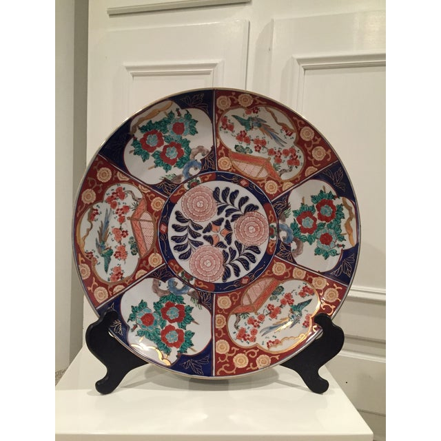 Beautiful oversized Japanese Charger. The plate is a typical example of the well-known Imari Porcelain from Japan's Meji...